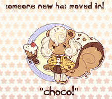 custom paint brush villager: Chocolate Squirrel! by plushpon