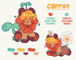 carrot, the little veggie gardener!
