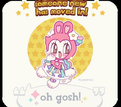 custom paint brush villager: Pastel Rabbit! by plushpon