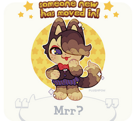custom paint brush villager: Biscuit/Choco Cat! by plushpon