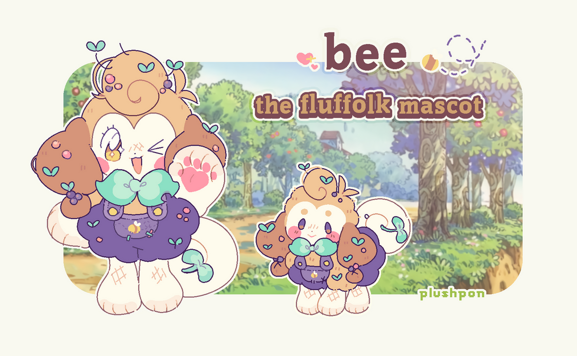 Bee The Fluffolk Mascot by plushpon