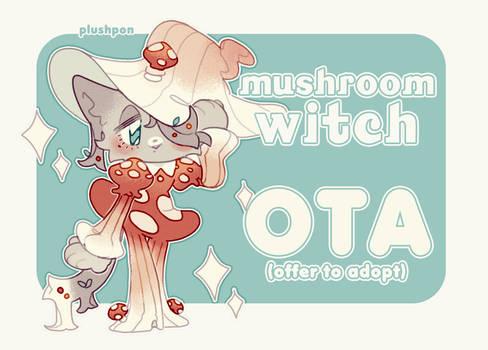 RE-OPENED OTA ADOPT: Mushroom Witch by plushpon