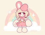 pastels and bunny ears