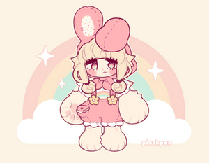 pastels and bunny ears by plushpon