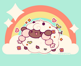 Wooloo says ''I'M BABY!!!'' by plushpon