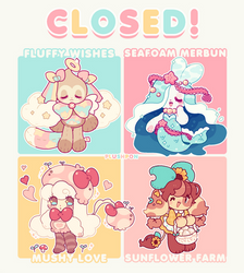 CLOSED: Summer Mascot Batch! by plushpon