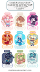 AB ADDED | OPEN| Eeveelution Inspired Mascots! by plushpon