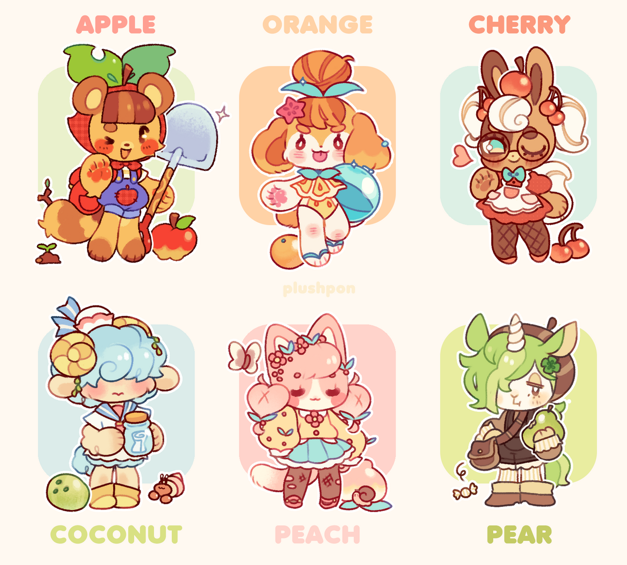 Closed Animal Crossing Villager Mascots By Plushpon On Deviantart