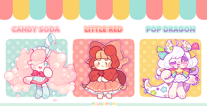 OPEN| Mascot Shop: Soda, Red, Dragon