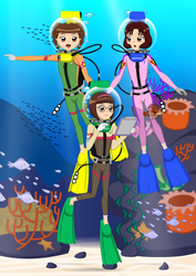 [Commission] CCS : Chiharu and Friends' Fun Dive by ZhmieXD