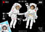 [Art Gift] Sakura and Syaoran's Orbital Stroll by ZhmieXD