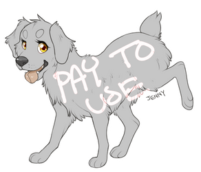 Cute Doggy Pay To Use Lines by Kiboku