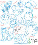 Chibi YCH Flatsale - AKA Puppy Fund! CLOSED