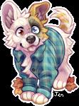 Flannel Puppy by Kiboku