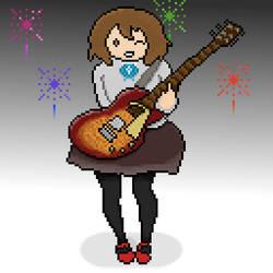 Yui Pixel Art by DrapsTv