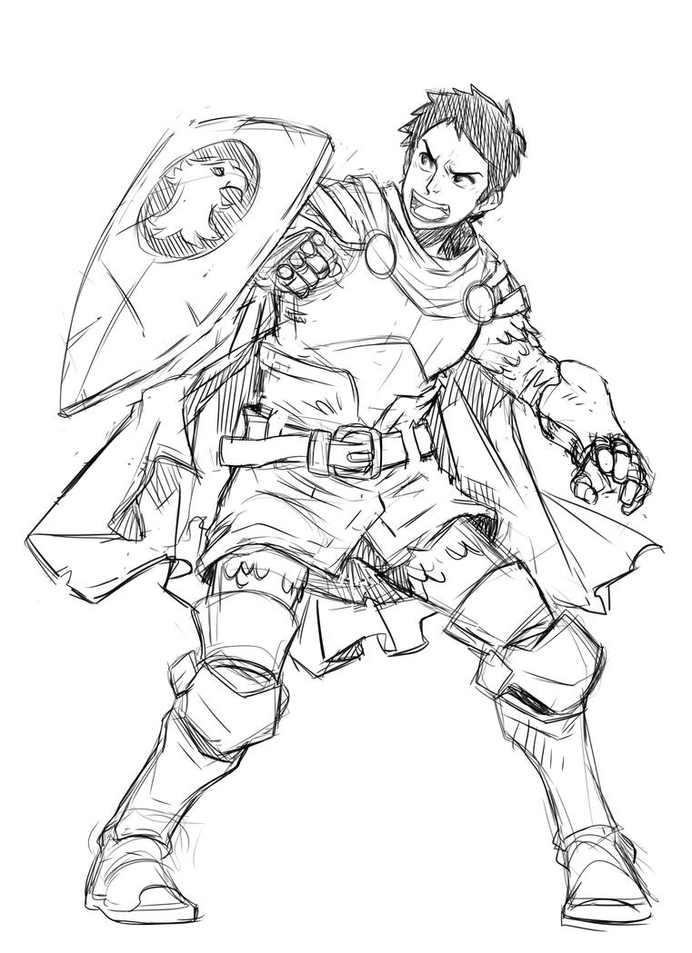 D Line Drawing : Fanart eric dungeons and dragons by loboborges on