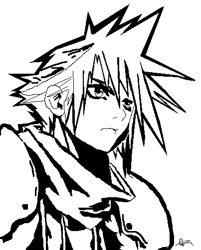 coloring pages of cloud - cloud strife by tatanlegs6661 on deviantart