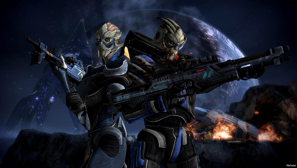 Garrus And Solona By Natsumi494 On