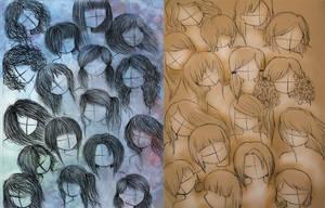 anime or manga hair by VillainAurora