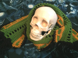 Green and Gold Scarf by Loki-Of-Sassgaard