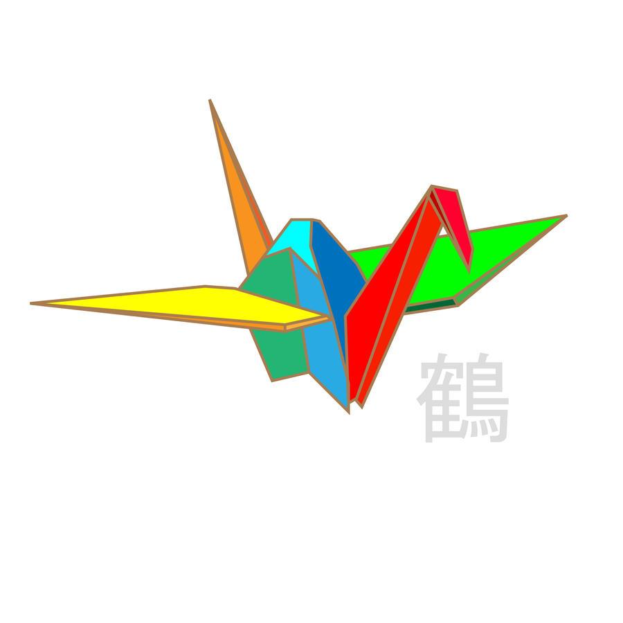Cubism Origami Crane By Maxchs