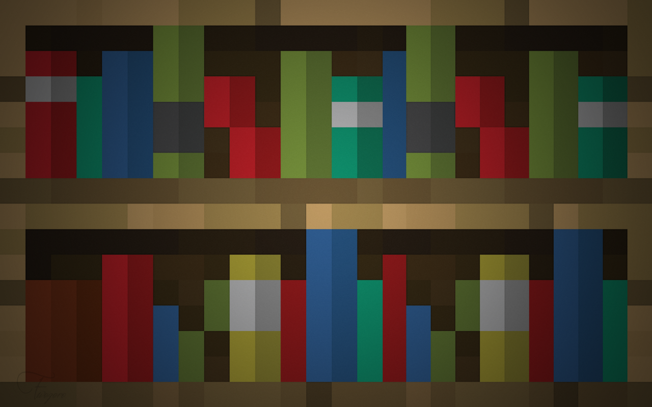 Fivezero09 0 5 Bookshelf wallpaper by Fivezero09 - Minecraft Wallpaper By  Fivezero09 On DeviantArt - Bookshelve - Minecraft Bookshelves IDI Design