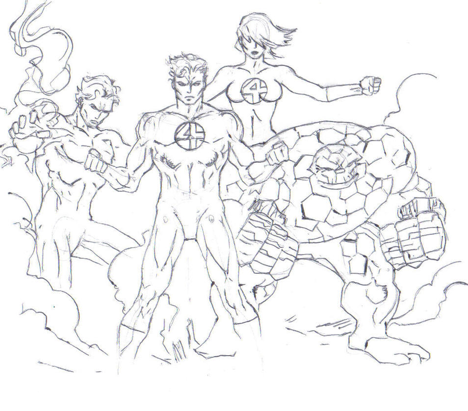 Fantastic four drawing (entire team) by electronicdave on ...