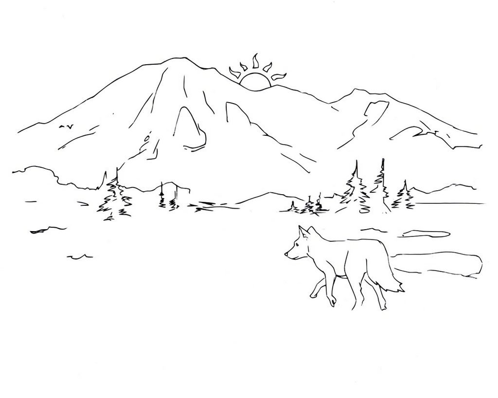 Line Art Mountain : Mountain drawing line art by electronicdave on deviantart