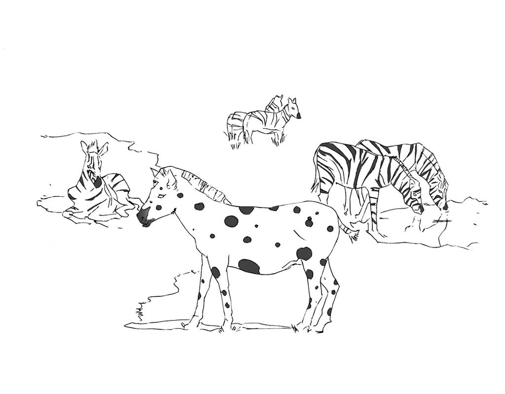 Zebra with spots by electronicdave