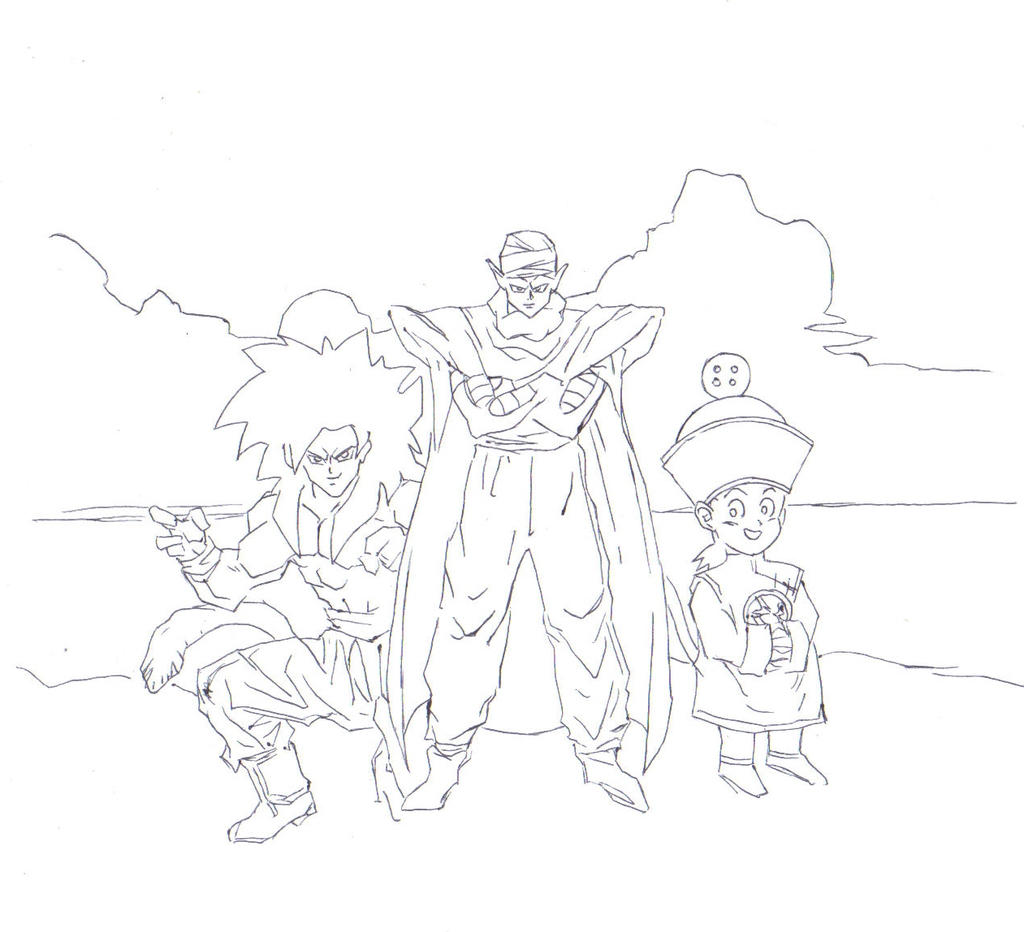 Dragon Ball Z (pencils) by electronicdave