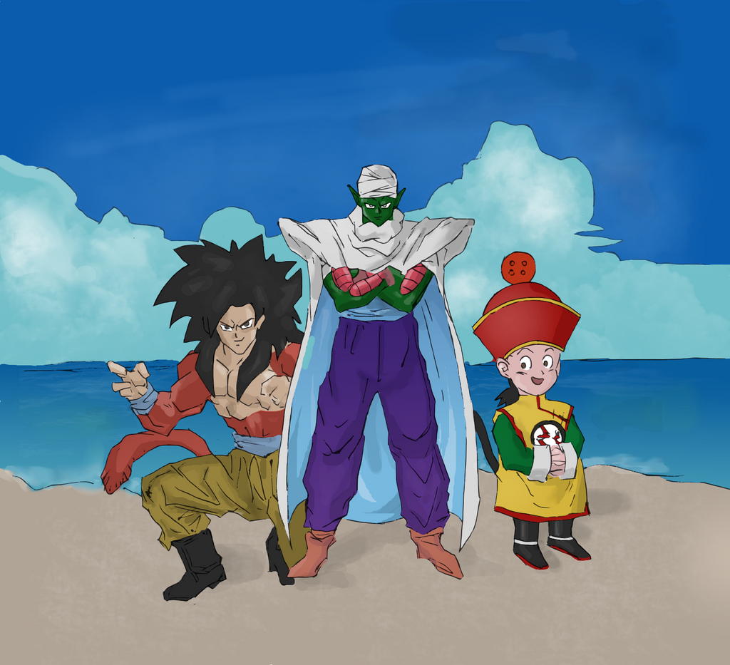 Dragon Ball Z (Colored) by electronicdave