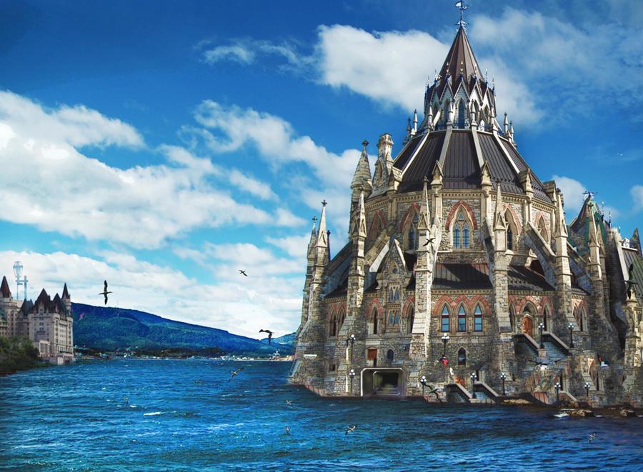 Castle In Gaspesie By Densar On Deviantart