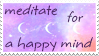 meditate stamp by CosmicDusty