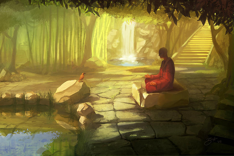 Meditation by GorosArt