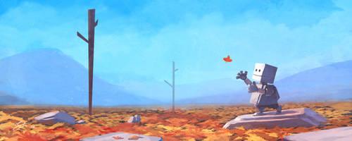 Falling Leaf by GorosArt