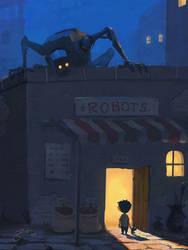 Robot Store by GorosArt