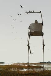 Marshland Crows by GorosArt