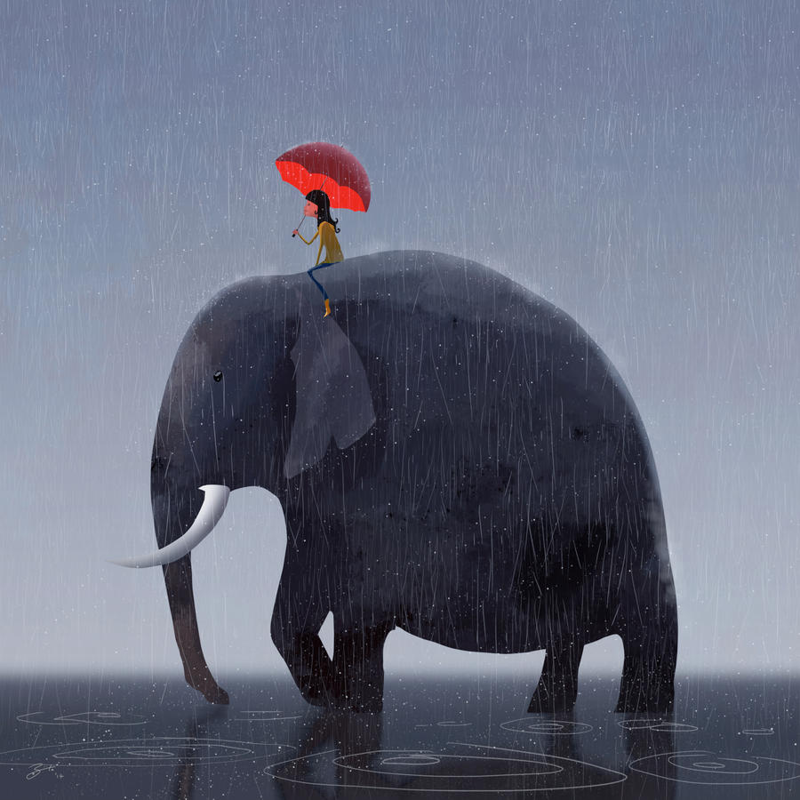 Elephant Rider by GorosArt