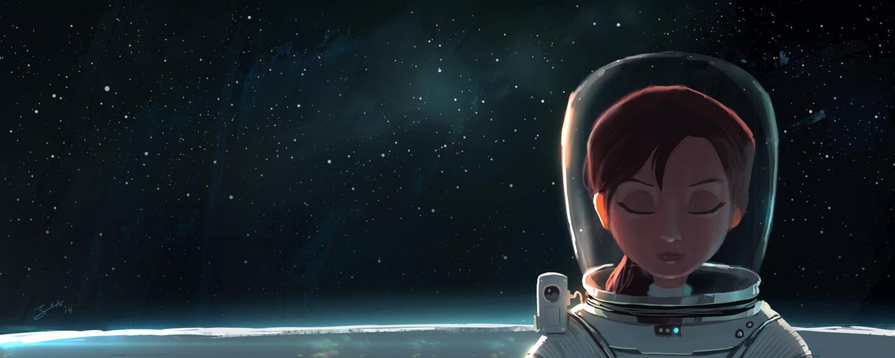 Space Girl by GorosArt