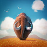 Friendly Mammoth by GorosArt