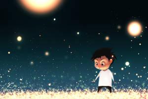 Garden Of Fireflies by GorosArt