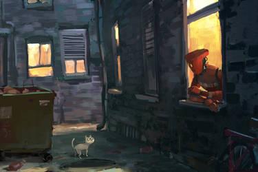 Back Alley by GorosArt