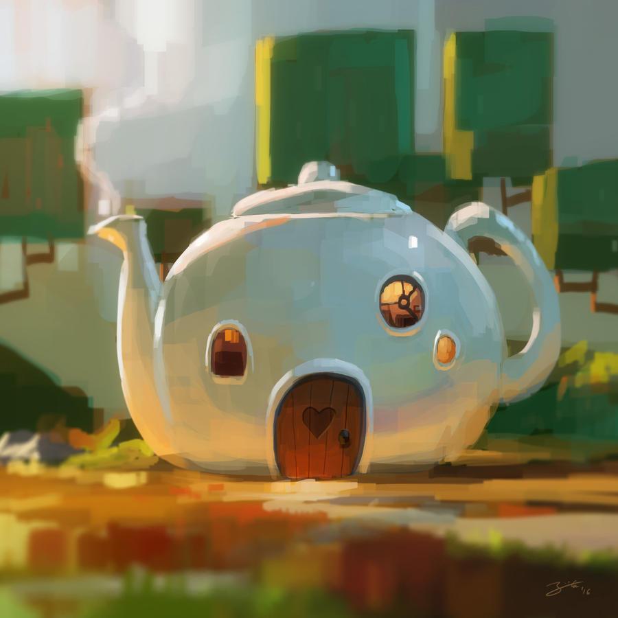 Tea House by GorosArt