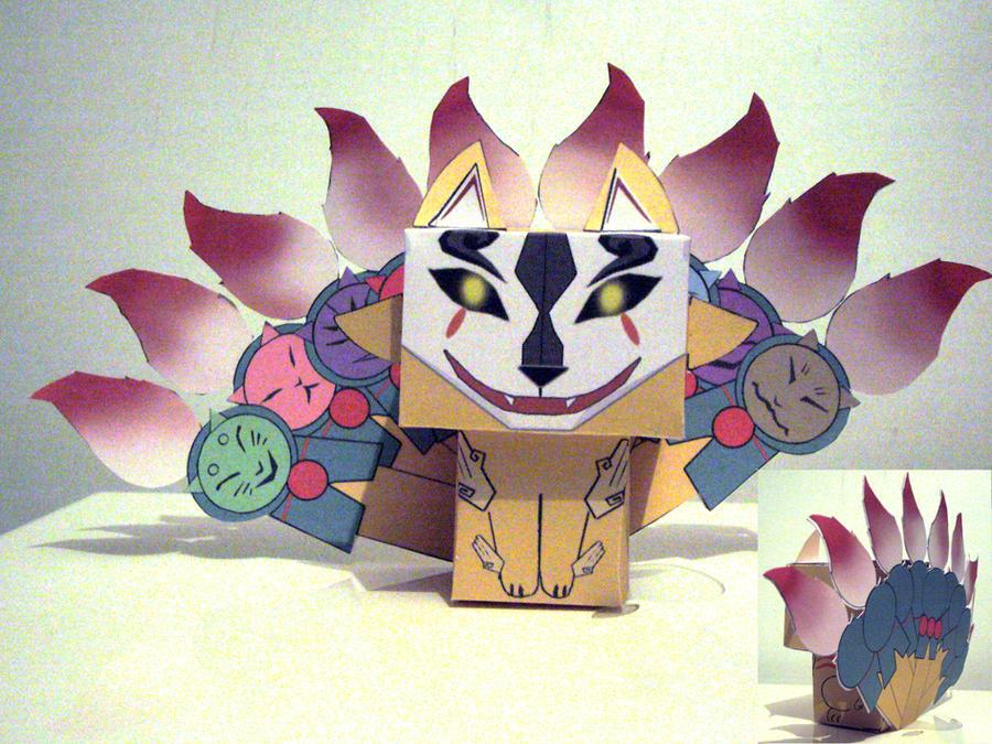 ninetails okami cubee by scarykurt