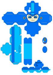 Mega Man cubeecraft by scarykurt