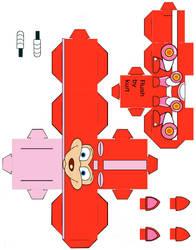 Mega Man's Rush cubeecraft by scarykurt