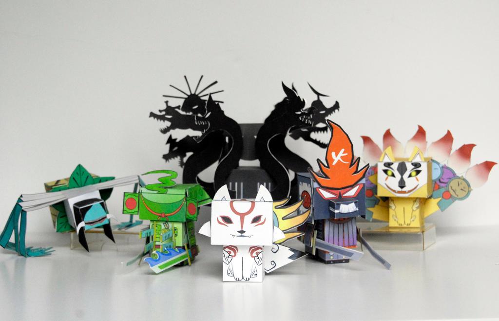 Okami Villains by scarykurt