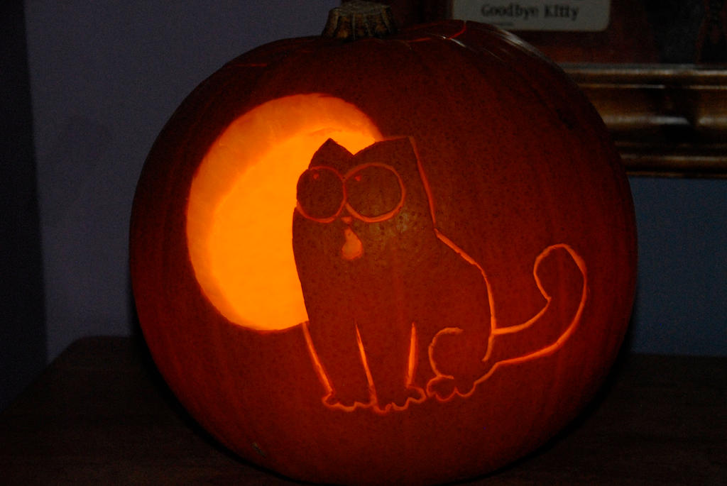 Simon s cat pumpkin by scarykurt on deviantart