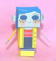 Neil Gaiman's Coraline Cubeecraft by scarykurt
