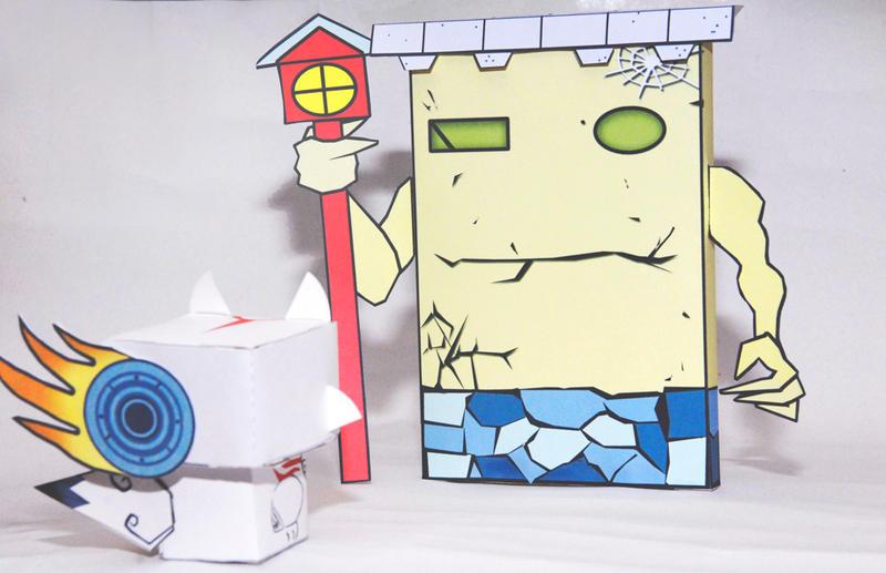 Okami Blockhead Grande by scarykurt